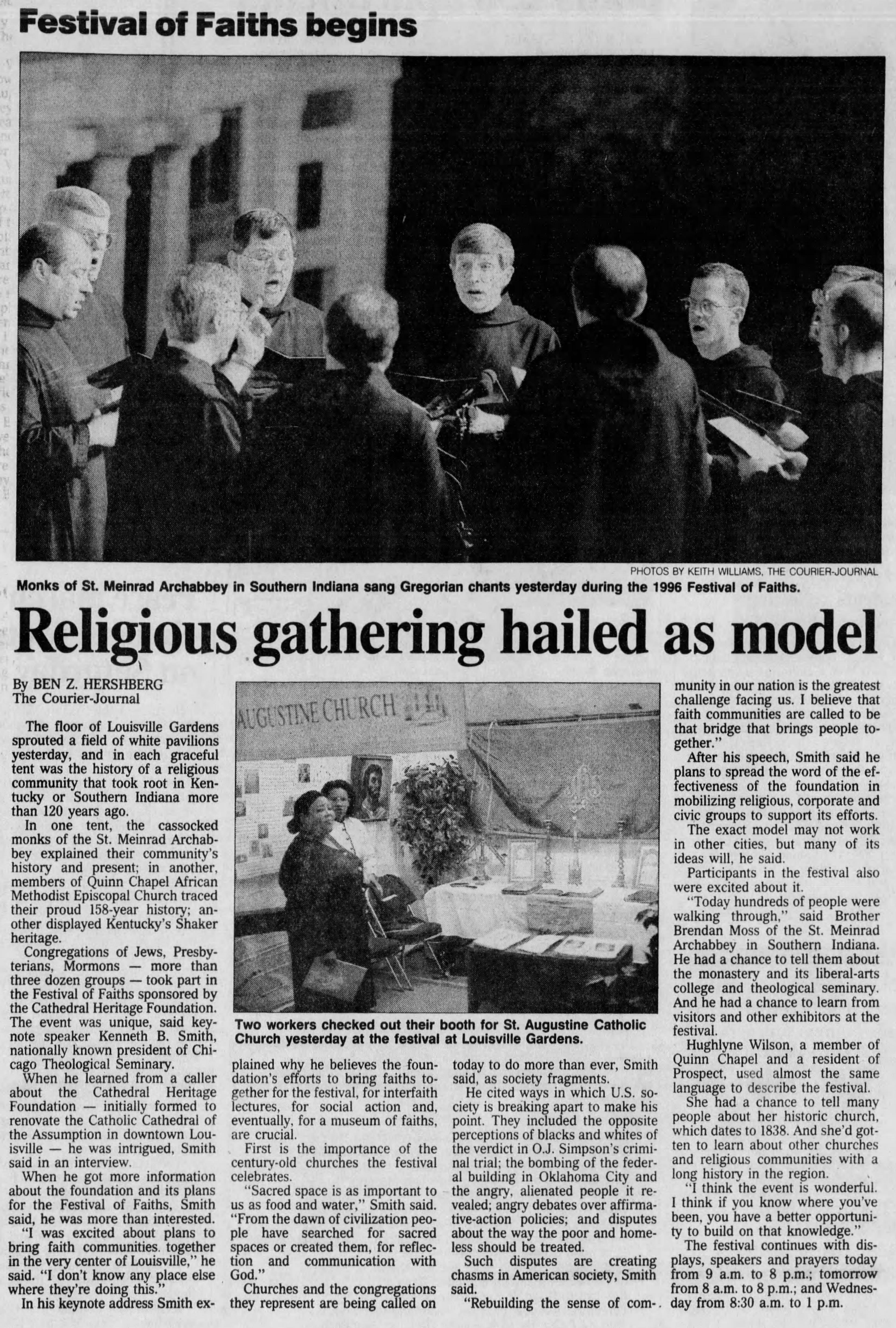 "Hershberg, Ben Z. ""Religious Gathering Hailed as Model."" The Courier-Journal, 18 Nov. 1996, p. 9."